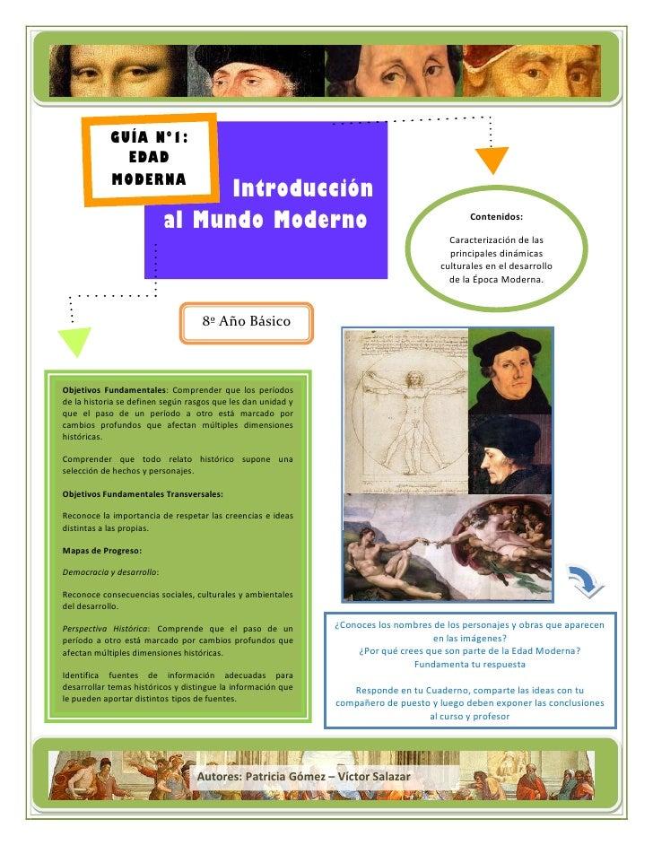 Título de la campaña            GUÍA Nº1:              EDAD            MODERNA                                 Introducció...