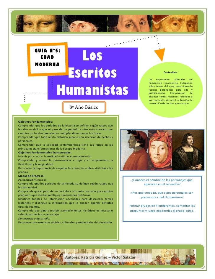 Título de la campaña            GUÍA Nº5:              EDAD       Los            MODERNA                      Escritos    ...
