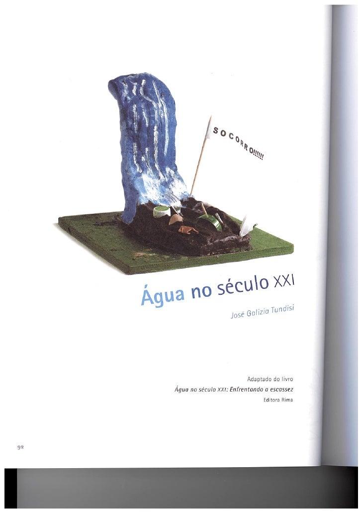 áGua No SéCulo Xxi