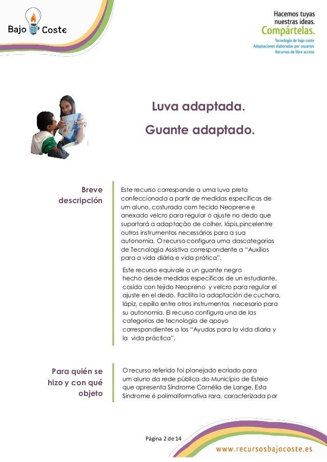 Guante adaptado (Luva adaptada) Slide 2