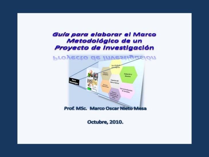 Guía para elaborar el marco metodológico