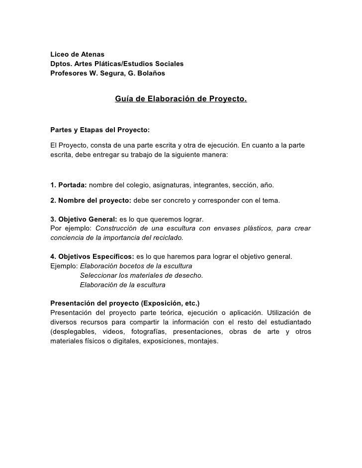 Liceo de Atenas Dptos. Artes Pláticas/Estudios Sociales Profesores W. Segura, G. Bolaños                       Guía de Ela...