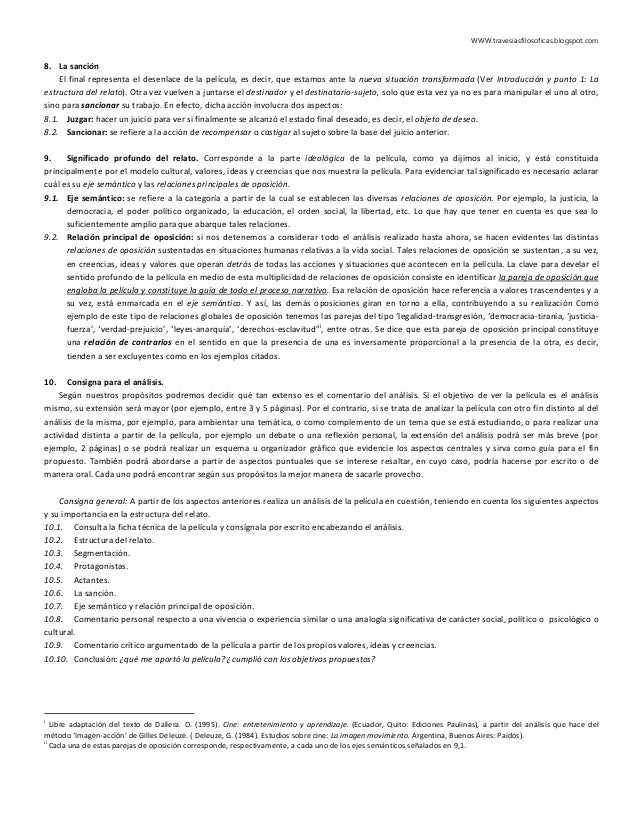 WWW.travesiasfilosoficas.blogspot.com 8. La sanción El final representa el desenlace de la película, es decir, que estamos...