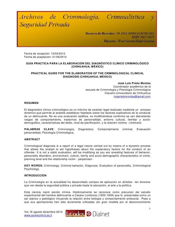 Fecha de recepción: 15/04/2012Fecha de aceptación: 01/06/2012 GUÍA PRÁCTICA PARA LA ELABORACIÓN DEL DIAGNÓSTICO CLÍNICO CR...