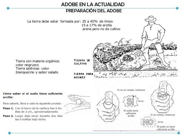 ADOBE EN LA ACTUALIDAD ADITIVOS Paja y en una menor proporción arena gruesa , estos aditivos controlan la microfisuracion ...