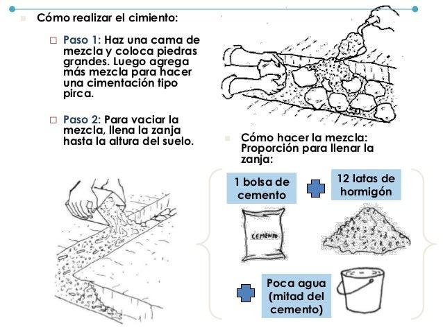  Paso 3: Para fijar las mallas al sobrecimiento coloca piedras medianas. De esta forma, las mallas no se levantarán.  Pa...