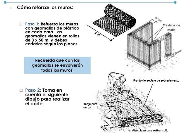 CONSTRUCCIÓN DE LOS MUROS Antes de construir los muros, primero debes elaborar el mortero. Este es una mezcla que te ayuda...