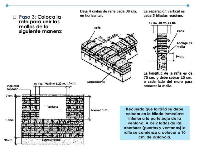 Toma en cuenta el siguiente dibujo: (1) Detalles de la construcción Cómo construir el tijeral:
