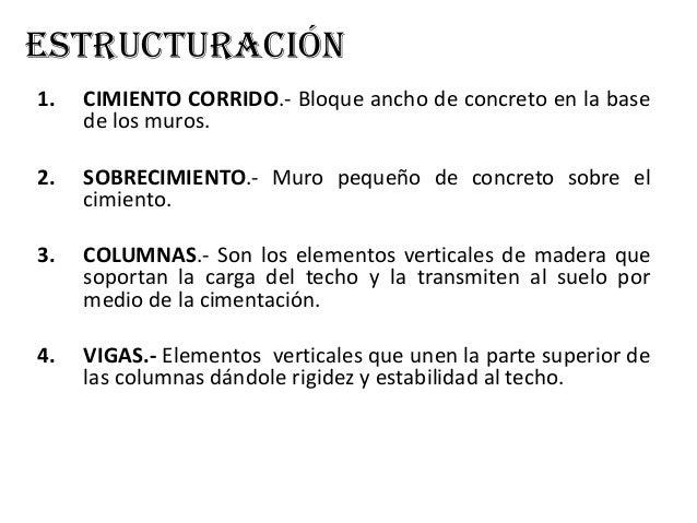 """• 2.- Columnas Se plantan 6 columnas de madera tornillo de sección cuadrada 4"""" x 4"""", incrustadas en el cimiento, 4 en las ..."""