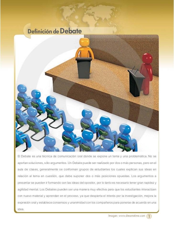 Guía para realizar un debate Slide 2