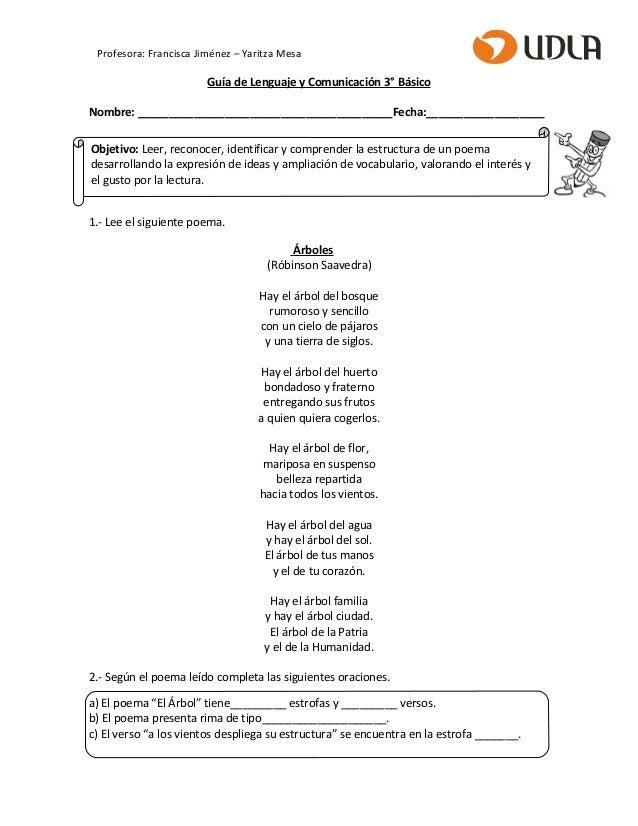 Guía Poema Clase 5