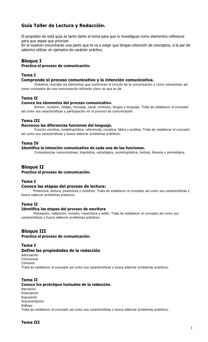 Circuito Comunicativo : Guía primer parcial tlr 2010 plantel 10