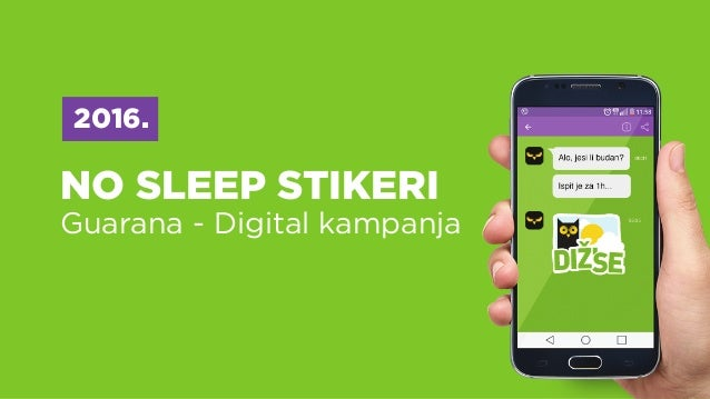 NO SLEEP STIKERI Guarana - Digital kampanja 2016.
