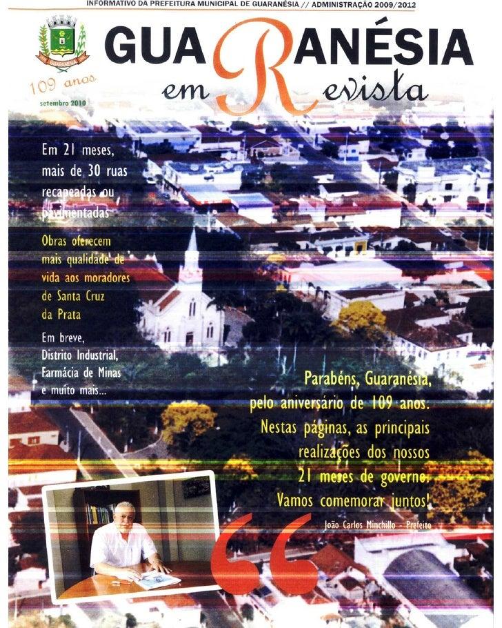 Guaranesia em Revista - Informativo da Prefeitura Municipal de Guaranésia