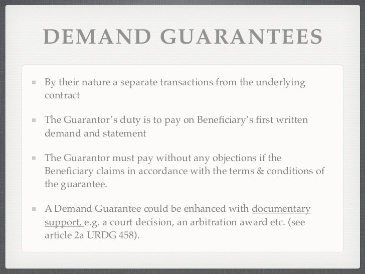 Guarantees & Standby Letter Of Credits