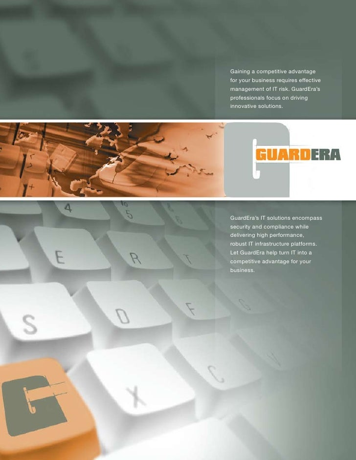 Gaining a competitive advantage for your business requires effective management of IT risk. GuardEra's professionals focus...