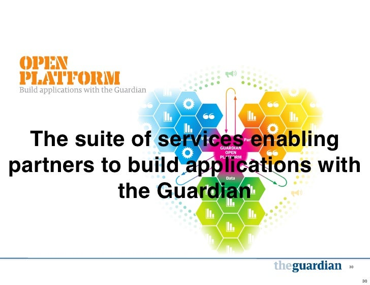 The suite of services enablingpartners to build applications with           the Guardian                                 3...