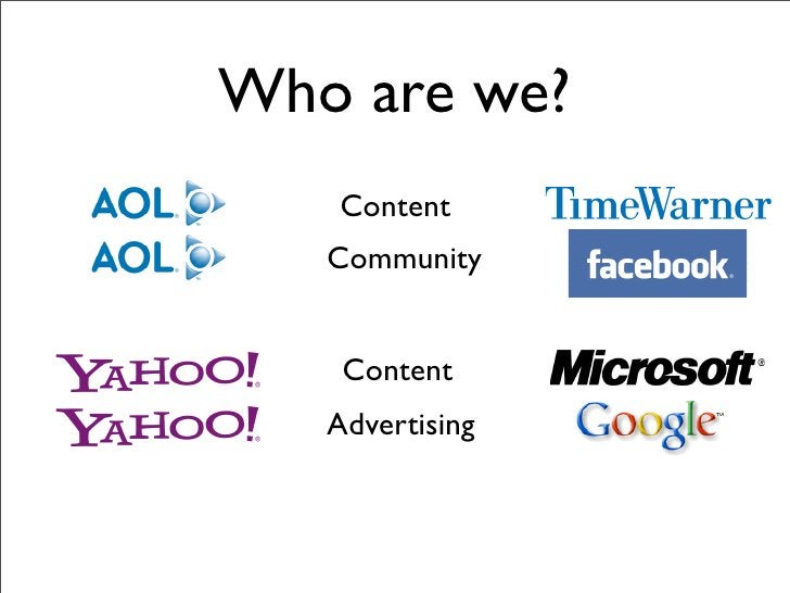 Who are we?    Content    Community       Content    Advertising