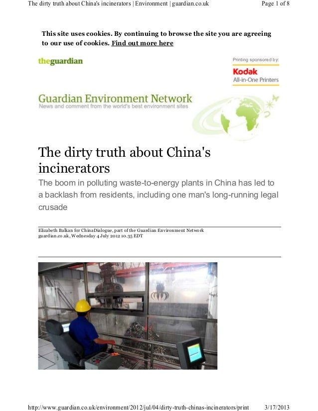 The dirty truth about Chinas incinerators | Environment | guardian.co.uk                       Page 1 of 8     This site u...