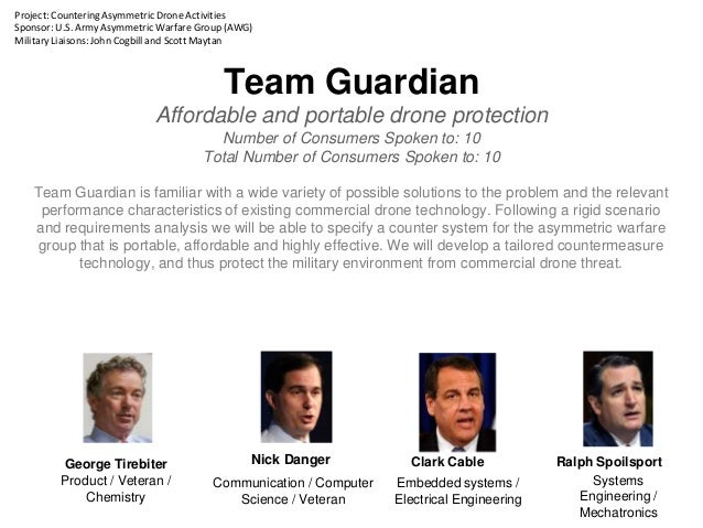 Team Guardian Affordable and portable drone protection Number of Consumers Spoken to: 10 Total Number of Consumers Spoken ...