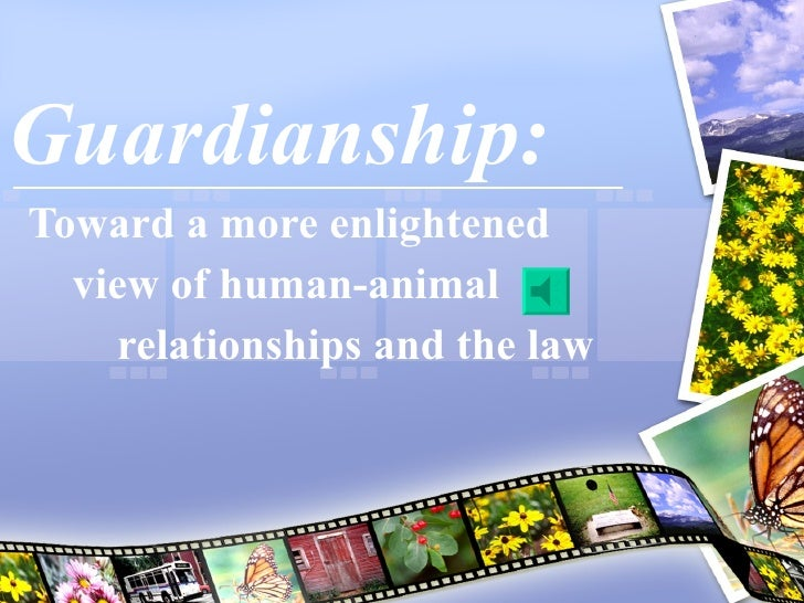 Guardianship: Toward a more enlightened  view of human-animal  relationships and the law