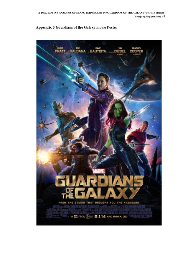 An in depth analysis of the movie guardians of the galaxy