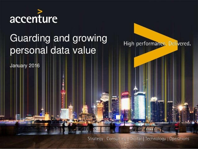 Guarding and growing personal data value January 2016