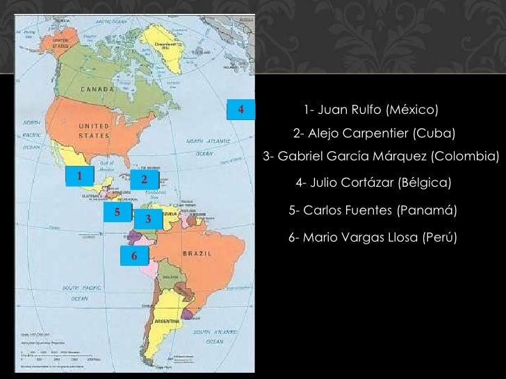 4         1- Juan Rulfo (México)                        2- Alejo Carpentier (Cuba)                    3- Gabriel García Má...