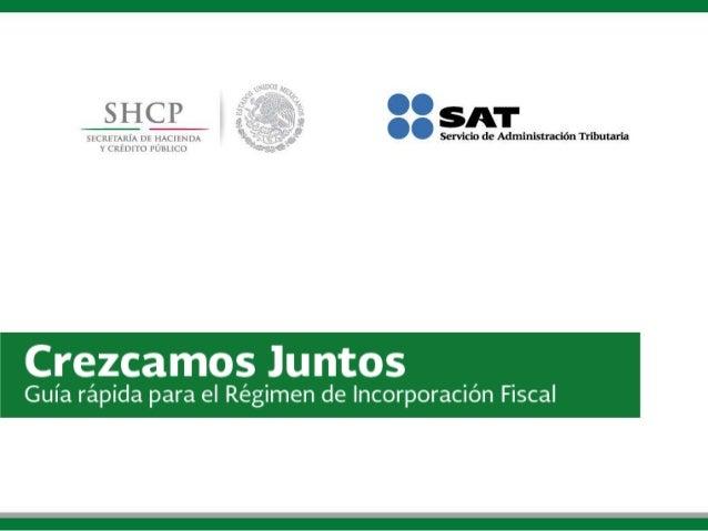 Guía rápida para el Régimen de Incorporación Fiscal.
