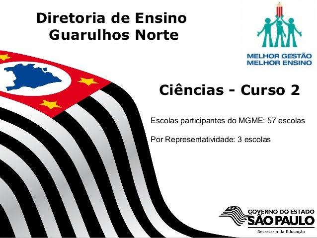 SECRETARIA DA EDUCAÇÃO Coordenadoria de Gestão da Educação Básica Diretoria de Ensino Guarulhos Norte 1 Ciências - Curso 2...