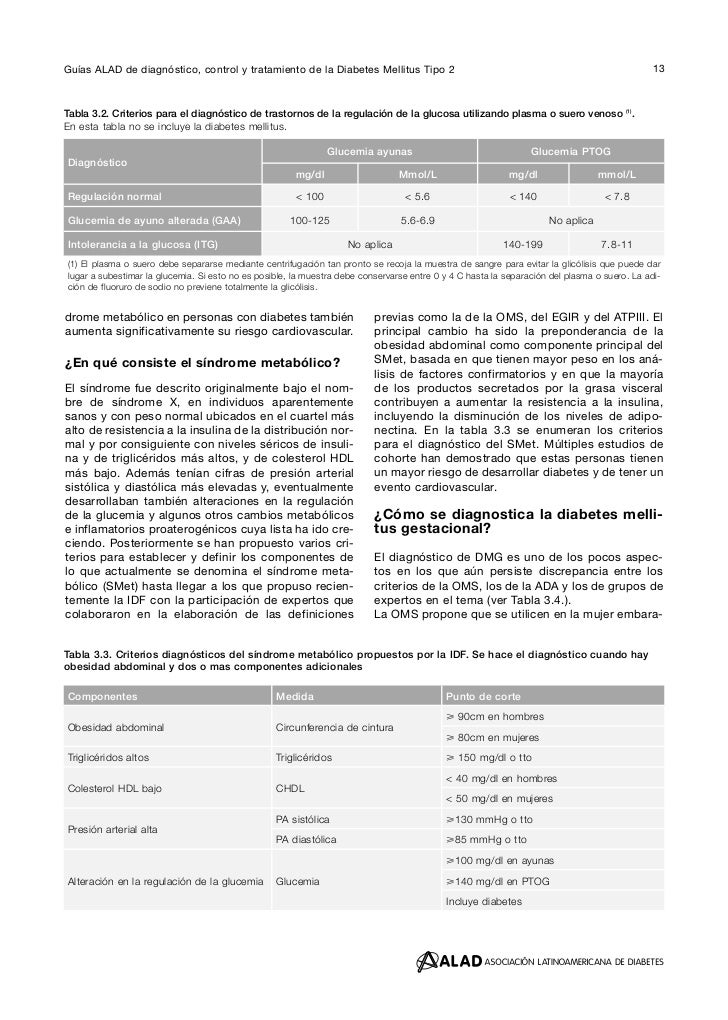 Guías alad de diagnóstico control y tratamiento de la