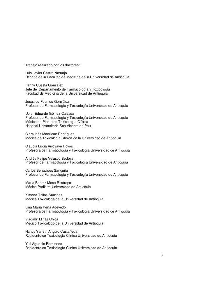 Guías de manejo de pacientes intoxicados Slide 3