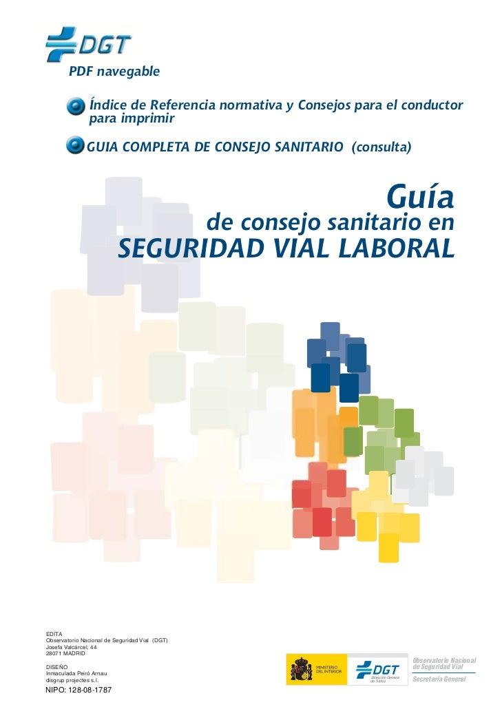 PDF navegable                Índice de Referencia normativa y Consejos para el conductor                para imprimir     ...