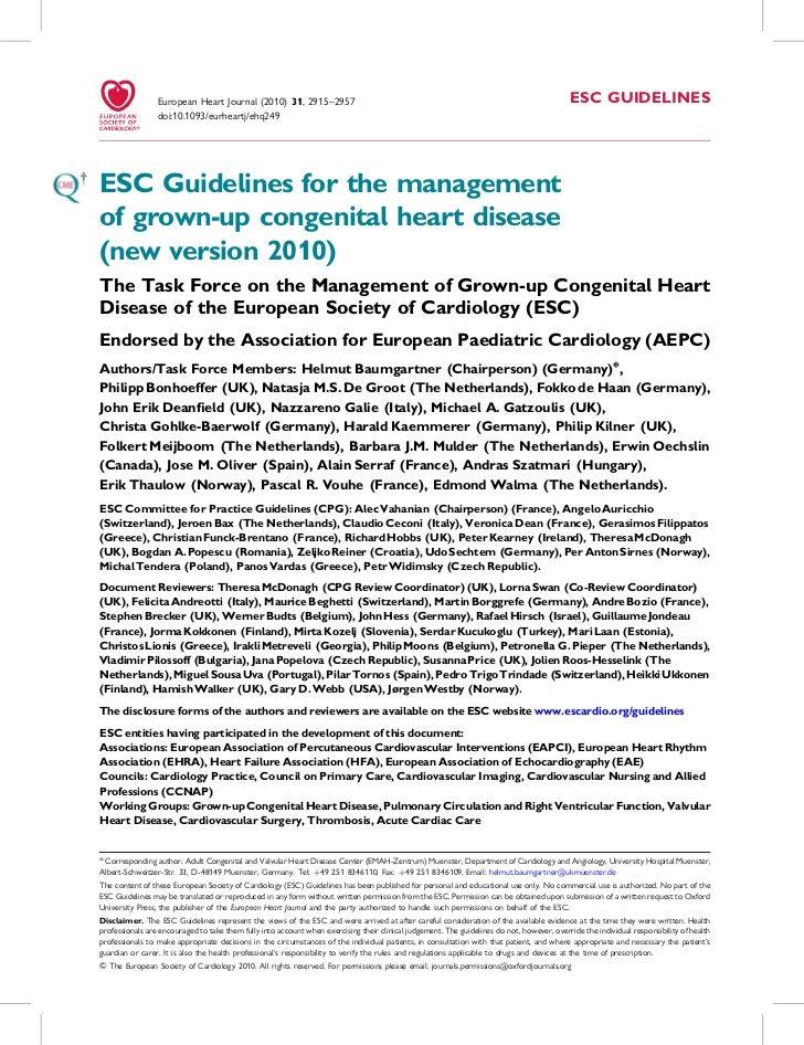 European Heart Journal (2010) 31, 2915–2957                                                                               ...