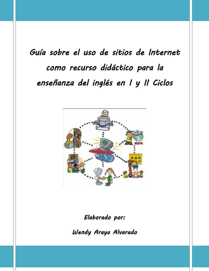 Guía sobre el uso de sitios de internet como recurso didáctico para …