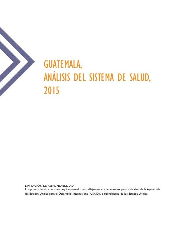 Guatemala Anlisis Del Sistema De Salud 2015