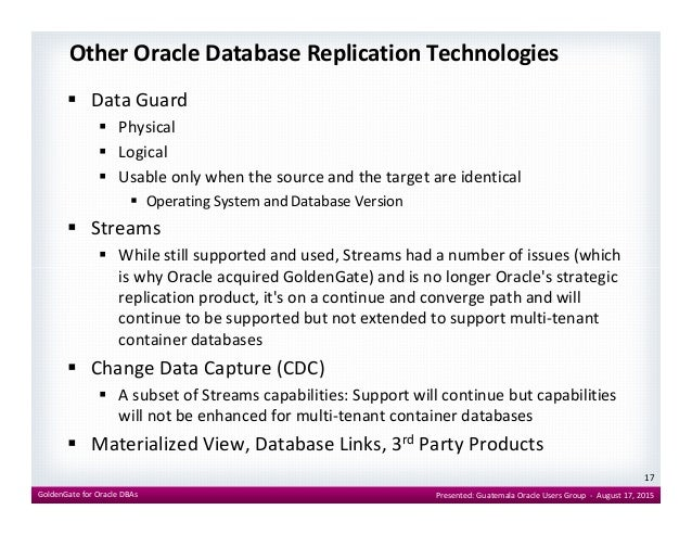 Oracle Goldengate For Oracle Dbas