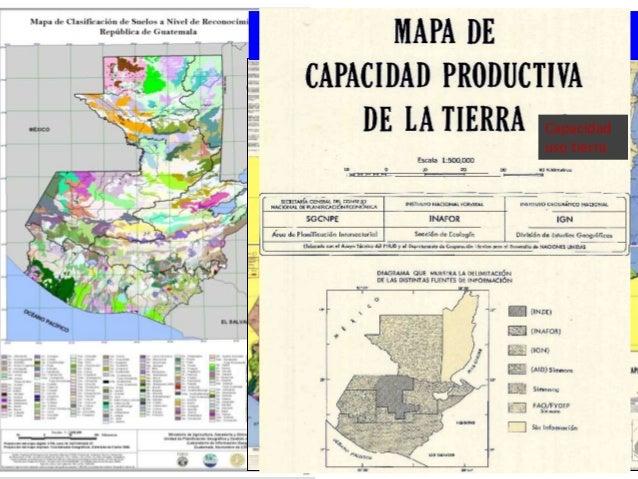 Estado del recurso suelo en guatemala prioridades y for Mapa facultad de arquitectura