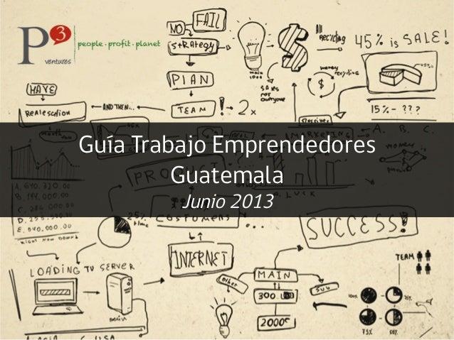 Guía Trabajo EmprendedoresGuatemalaJunio 2013