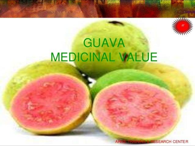 GUAVA MEDICINAL VALUE ARISE TRAINING & RESEARCH CENTER