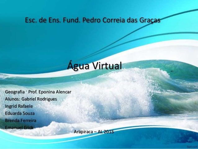 Esc. de Ens. Fund. Pedro Correia das Graças Geografia · Prof. Eponina Alencar Alunos: Gabriel Rodrigues Ingrid Rafaele Edu...