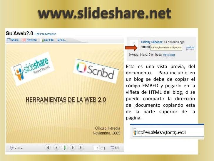 www.slideshare.net<br />Esta es una vista previa, del documento.   Para incluirlo en un blog se debe de copiar el código E...