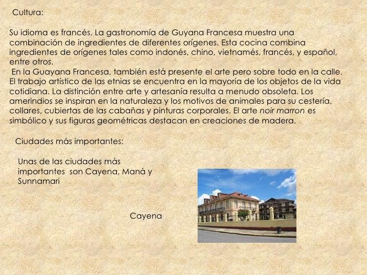Guayana francesa for Cultura francesa comida