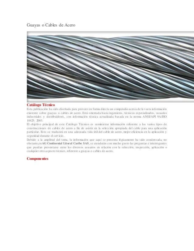 Guayas o cables de acero - Cables de acero ...