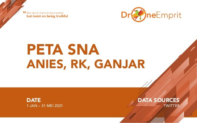 PETA SNA ANIES, RK, GANJAR DATE 1 JAN – 31 MEI 2021 DATA SOURCES TWITTER We don't claim to be neutral, but insist on being...