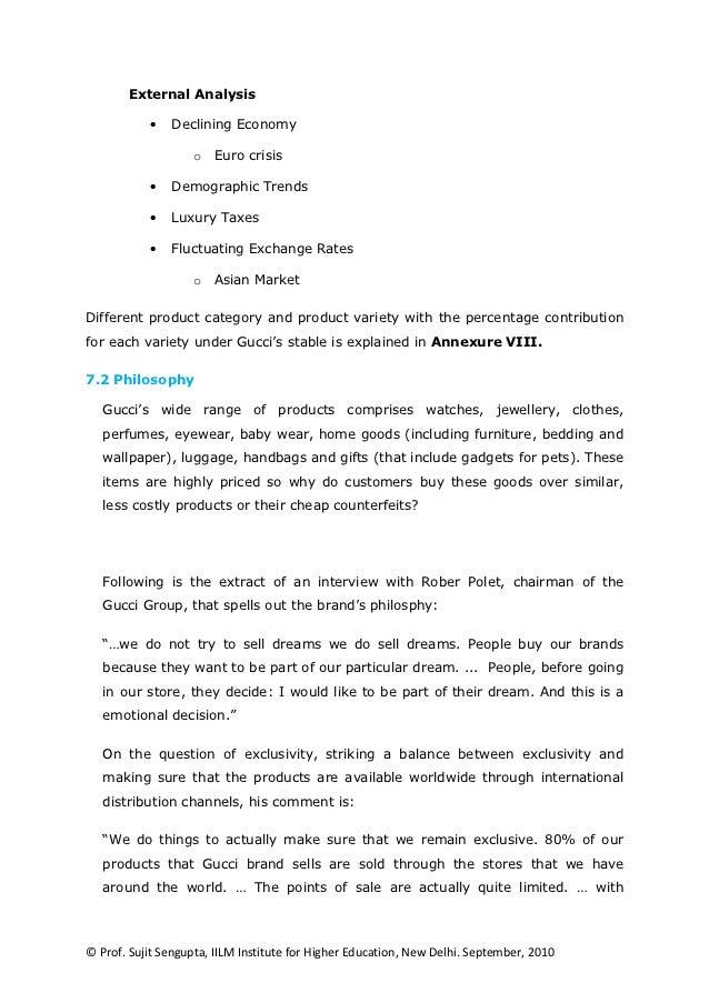 gucci case analysis