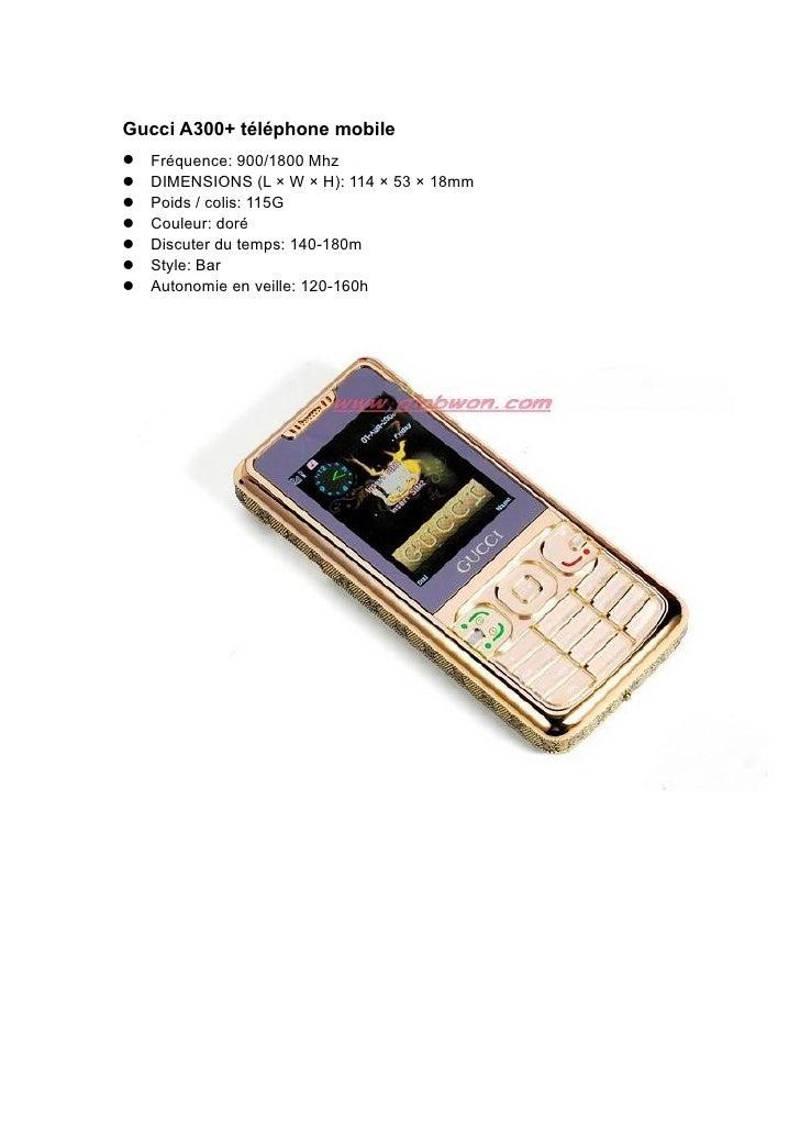 Gucci A300+ téléphone mobile Fréquence: 900/1800 Mhz DIMENSIONS (L × W × H): 114 × 53 × 18mm Poids / colis: 115G C...