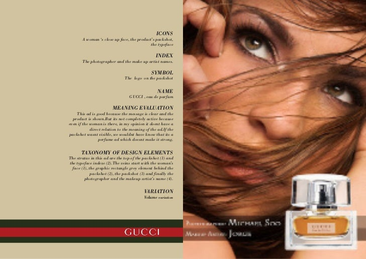 Gucci advertisement analysis