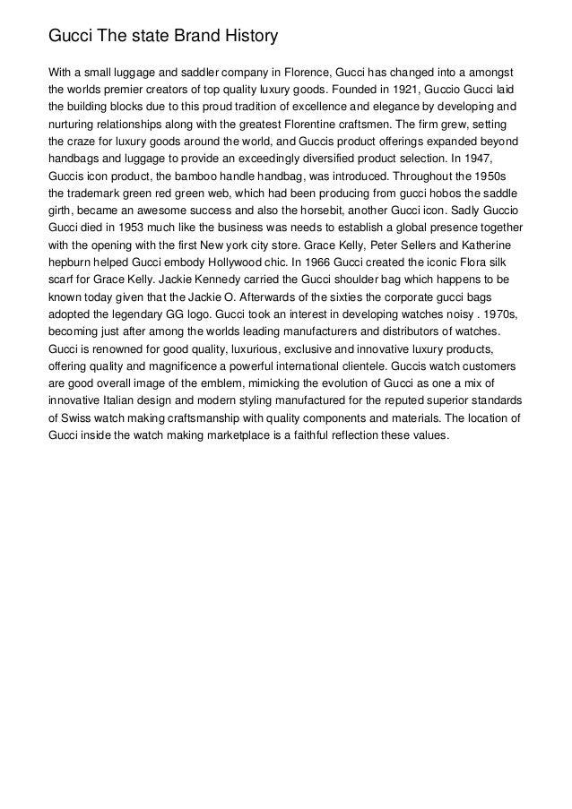 gucci company history