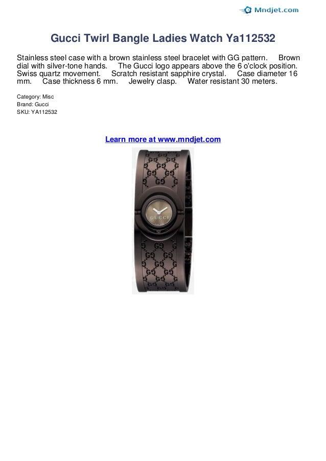 0653fa86f73 Gucci twirl bangle ladies watch ya112532 review by mndjet
